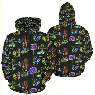 Crime City all-over print hoodie