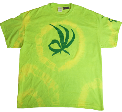 It's Ok tye dye tee - green XL
