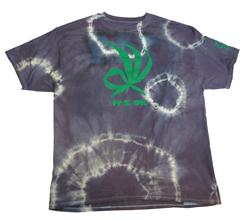 It's Ok tye dye tee - charcoal XL