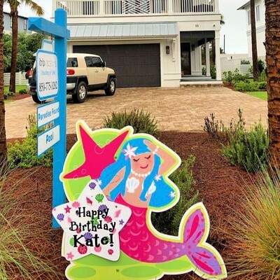 Mermaid Yard Sign Rental