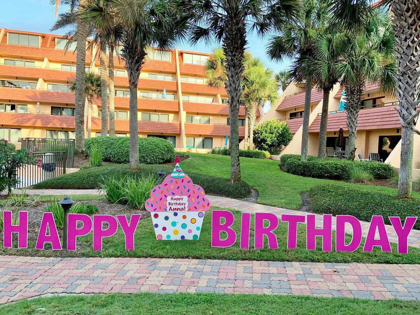 Happy Birthday Lawn Letters