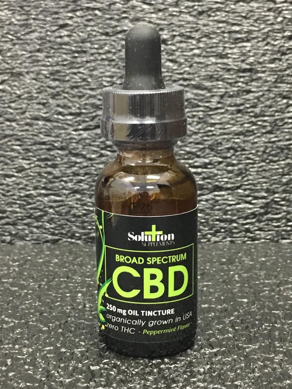 Broad Spectrum CBD Oil Tincture 250mg