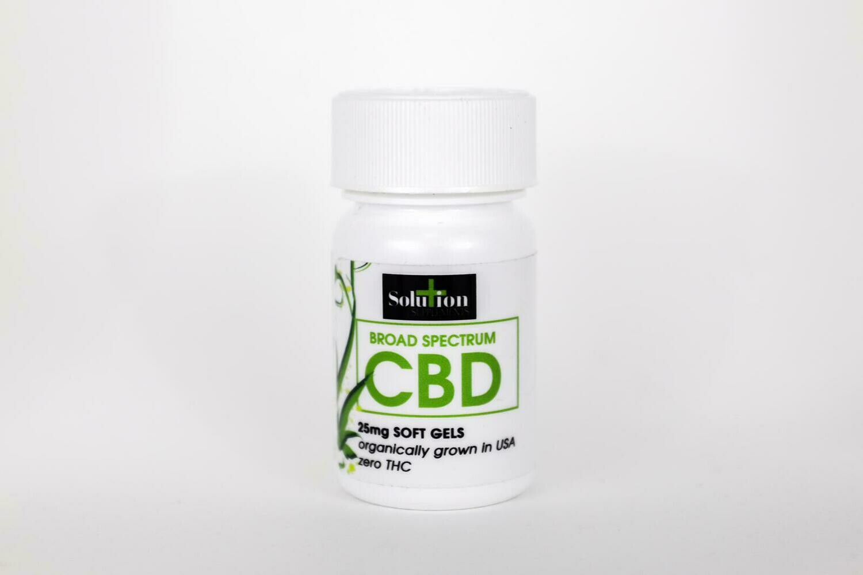 Broad Spectrum CBD 25mg Soft Gels (30 count)