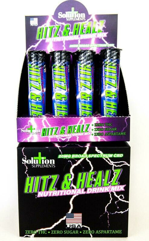Hitz & Healz in Display Box 240mg CBD (12 Count)