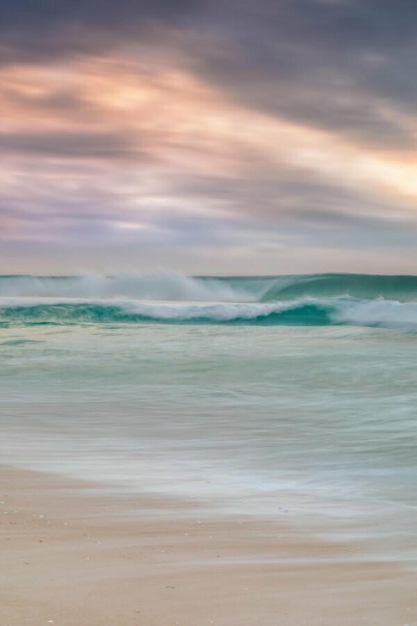 PASTEL BEACH - BENNETT'S BEACH - A4 PRINT
