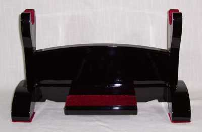 Table-top Black Lacquer Single Sword Display