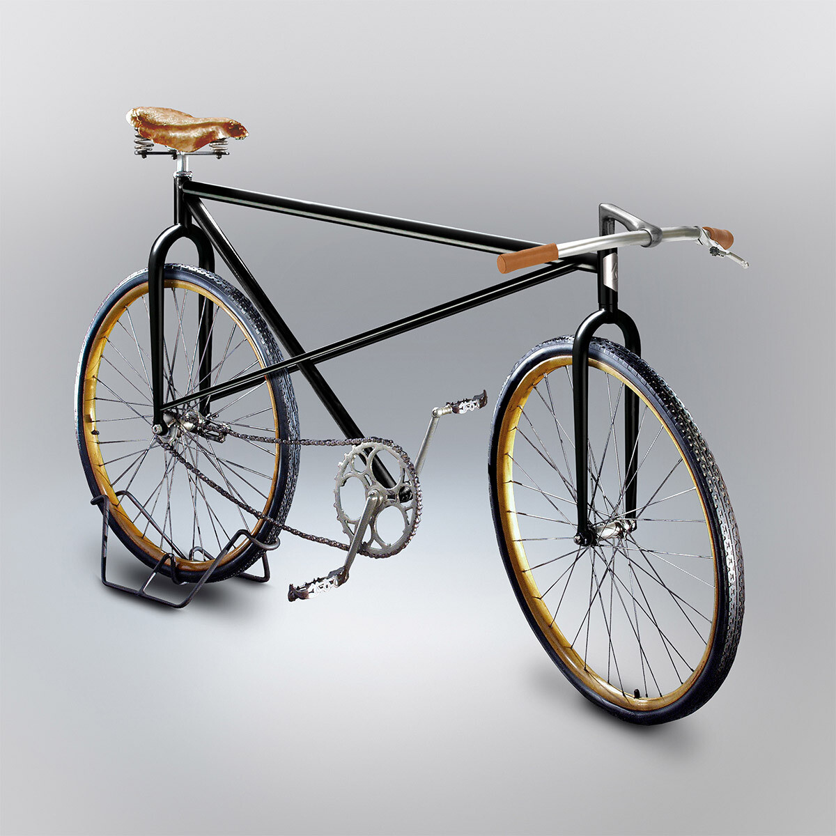 Bicycles Made Based on People's Attempts to Draw Them From Memory