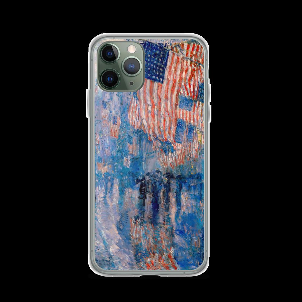 The Avenue In The Rain - iPhone Case