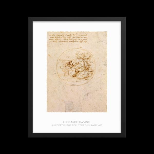 Leonardo da Vinci - Allegory on the Fidelity of the Lizard
