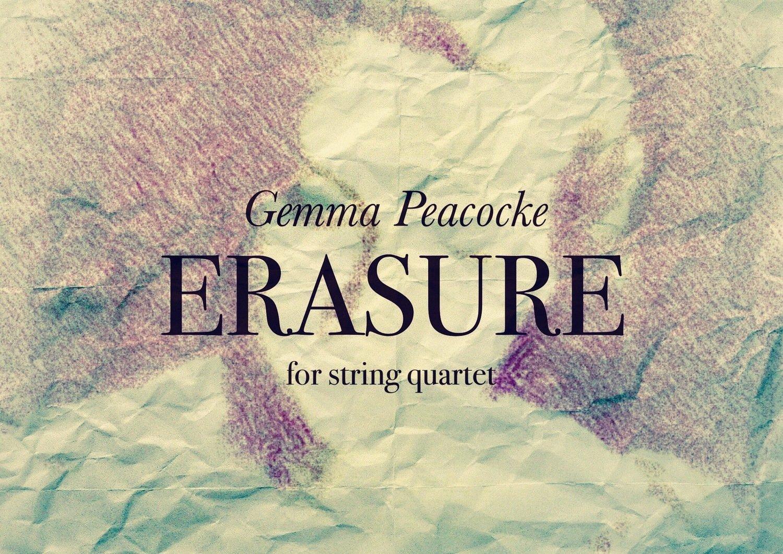 Erasure for amplified string quartet (hard copies - score and parts)