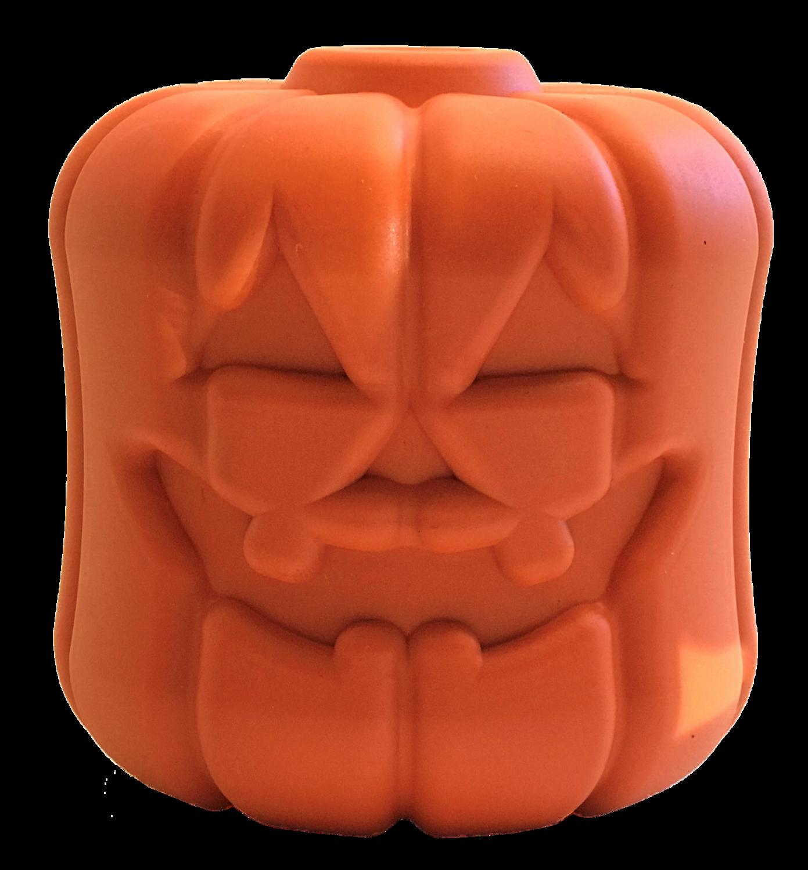 Jack O' Lantern Durable Rubber Chew Toy & Treat Dispenser
