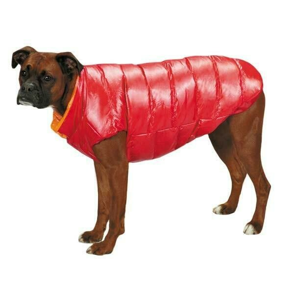 Red Puffy Dog Vest