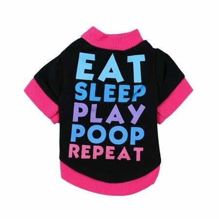Eat Sleep Poop Play Dog Shirt