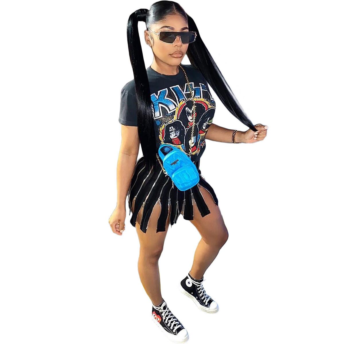Rockin That Zipper Mini Dress