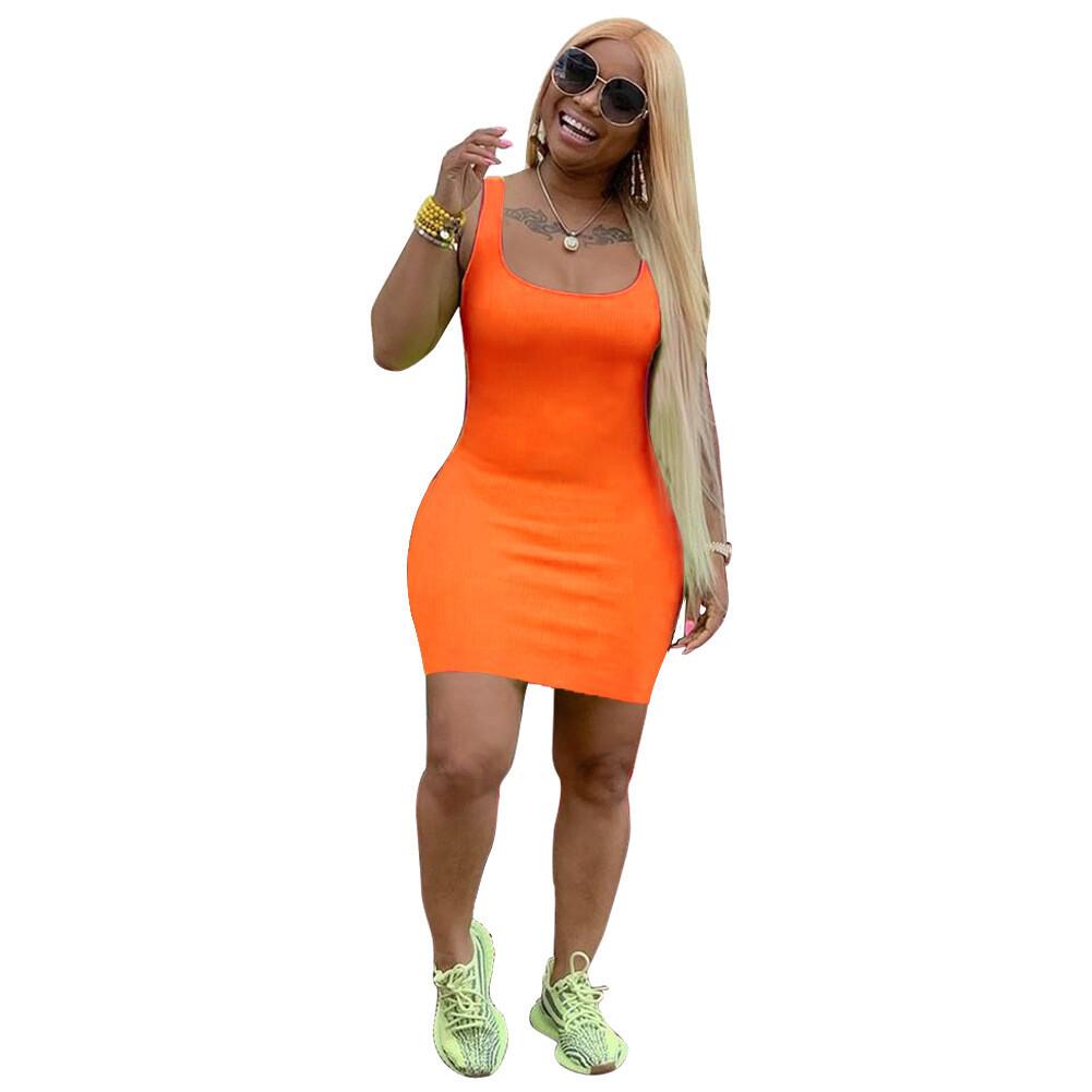 Pop of Color Bodycon Mini Dress