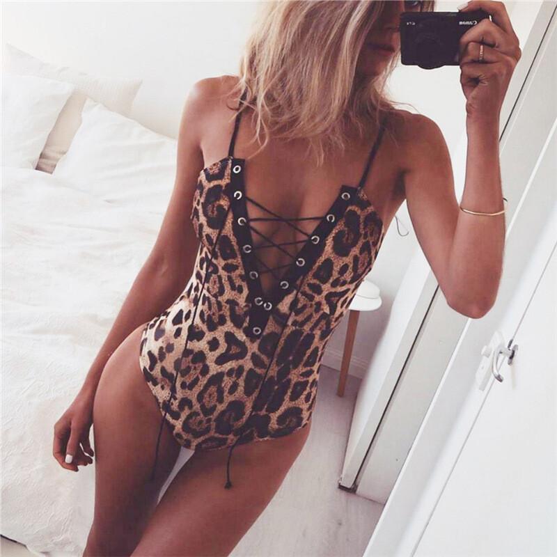 Leopard Strappy Bodysuit