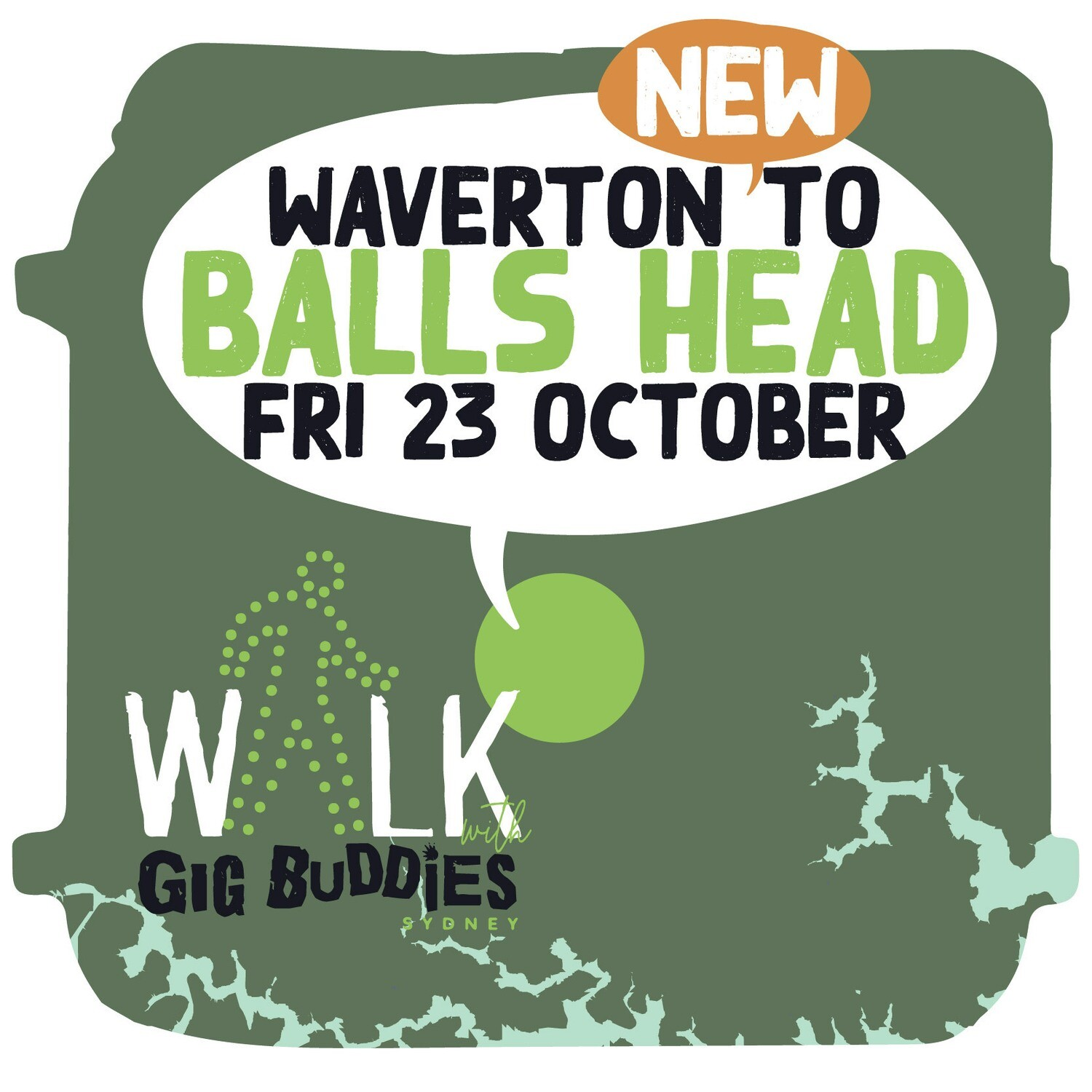 *** NEW DATE *** Waverton Train Station to Balls Head Reserve return - Friday 23 October @ midday