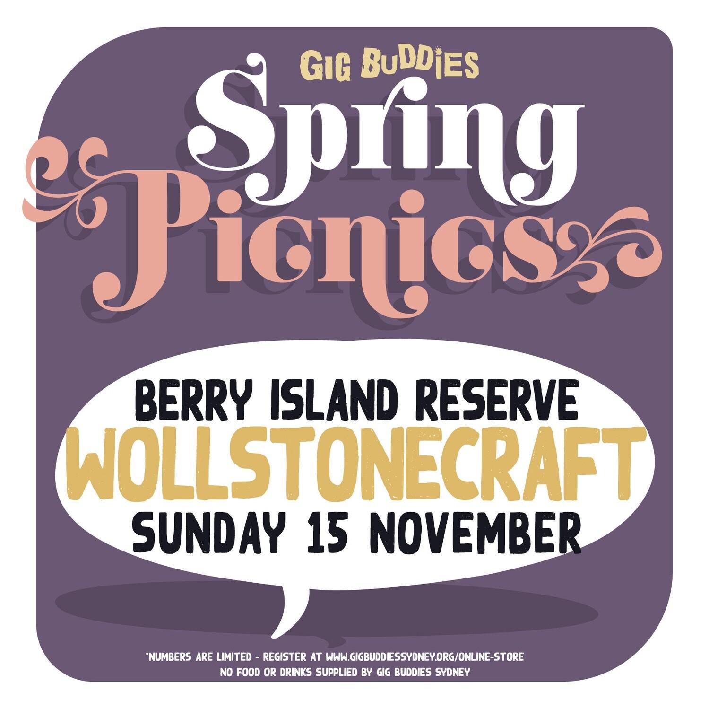 Gig Buddies picnics in the park @ Berry Island Reserve, Wollstonecraft - Sunday 15 November