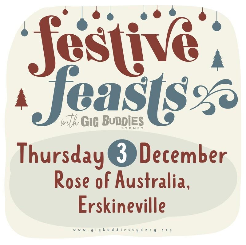 Gig Buddies Sydney's Christmas parties in the pub @ Rose of Australia, Erskineville - Thursday 3 December