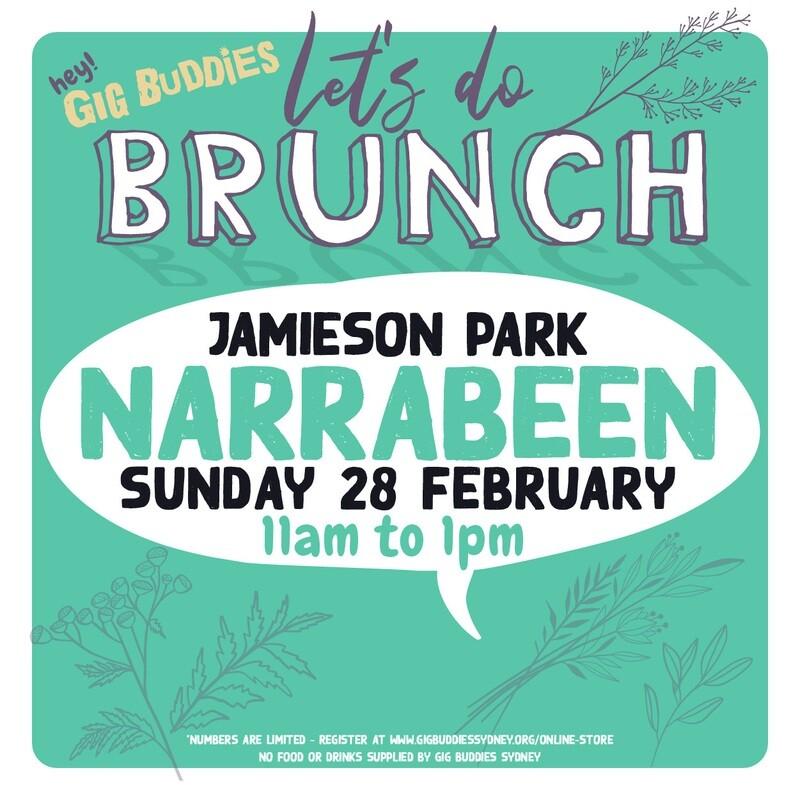 Gig Buddies Sydney Sunday brunch in the park @ Jamieson Park, Narrabeen - Sunday 28 February