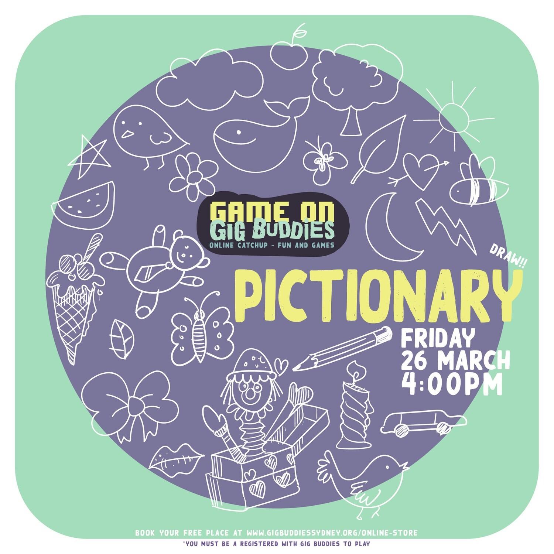 Gig Buddies Sydney Pictionary Friday 26 March @ 4pm