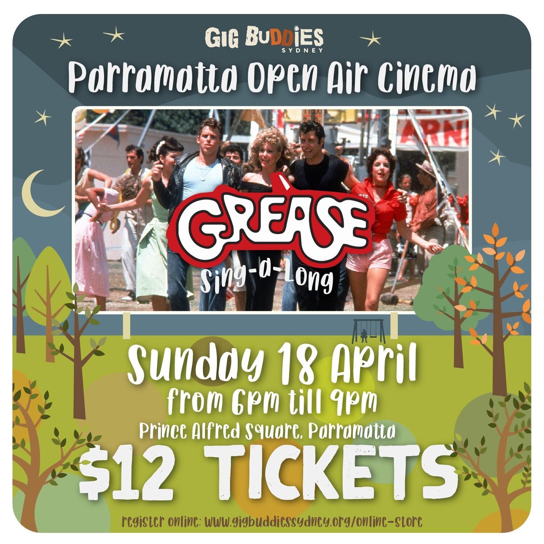 Grease (sing-a-long version) @ Parramatta Nights Open Air Cinema  - Sunday 18 April
