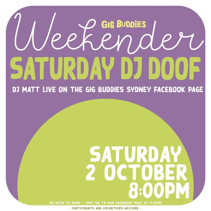 Saturday night DJ doof - Saturday 2 October @ 8pm