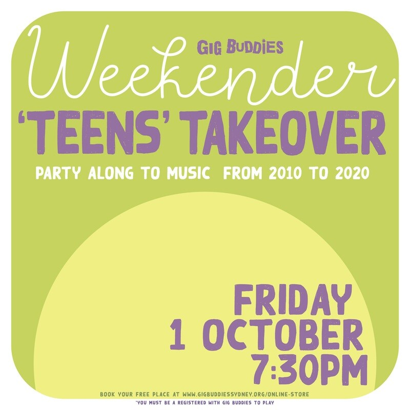 The 'teens' takeover - Friday 1 October @ 7.30pm