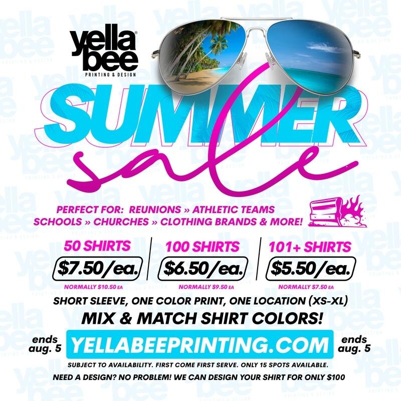 Summer Sale - T-Shirt Printing