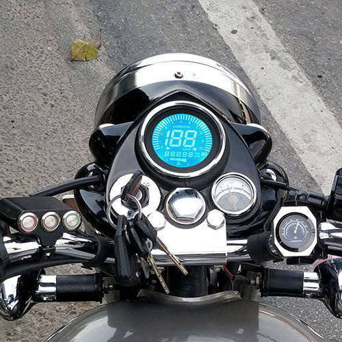 New Digital Meter For Royal Enfield Classic, Signals, Standard & Electra- Version-2