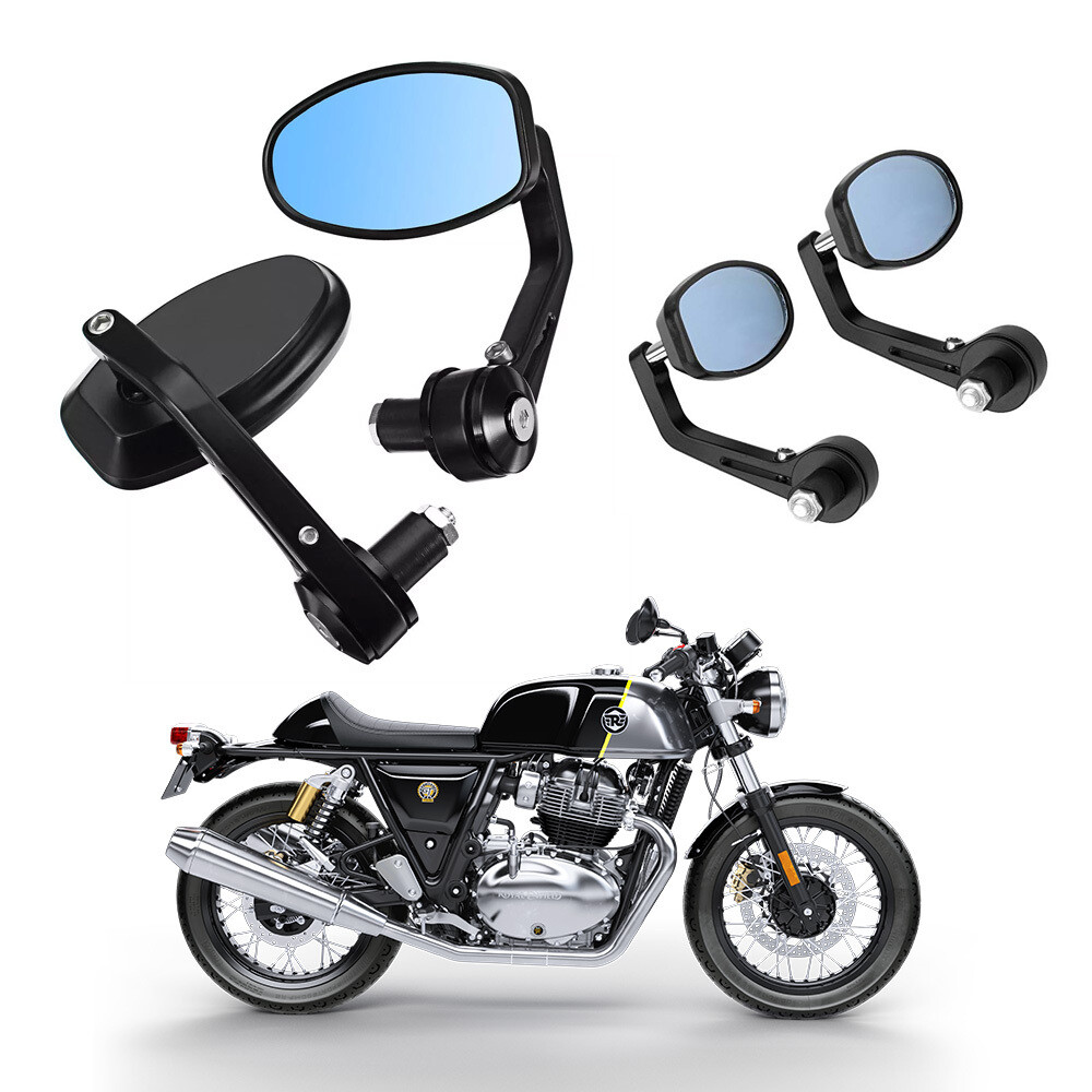 Cafe Racer GT Bar End Mirrors for Motorcycle
