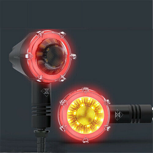 New Age Indicators with Running DRL Waterproof Decorative Guide Warning Lamp - Set of 4
