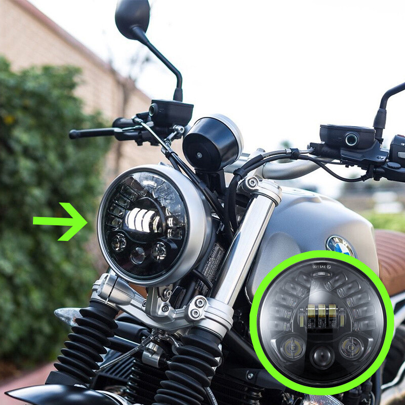 7 inch projection LED headlight for all models of Royal Enfield bikes - 1 year warranty