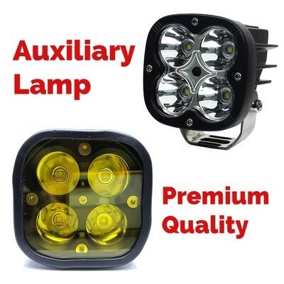 HJG CREE LED Auxiliary Lamp 6000K (White) 3000K (Amber) Spot Beam 4000LM (Set of 2)