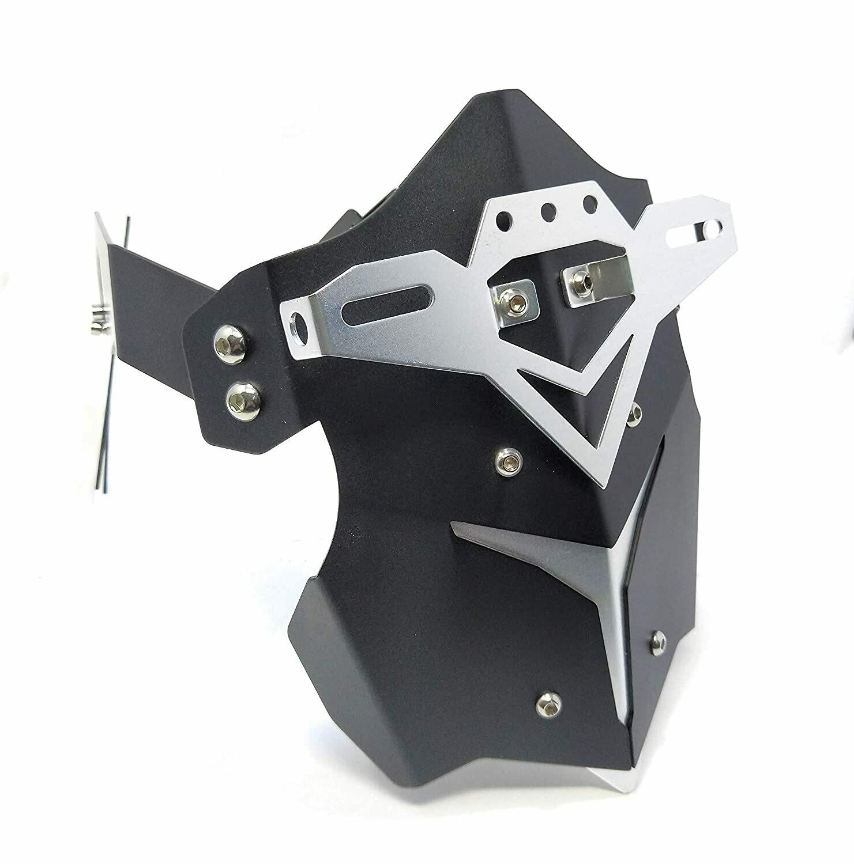 Motorcycle TYRE Hugger, Mudguard Fender Cover Rear Wheel Splash Guard (Silver Black)