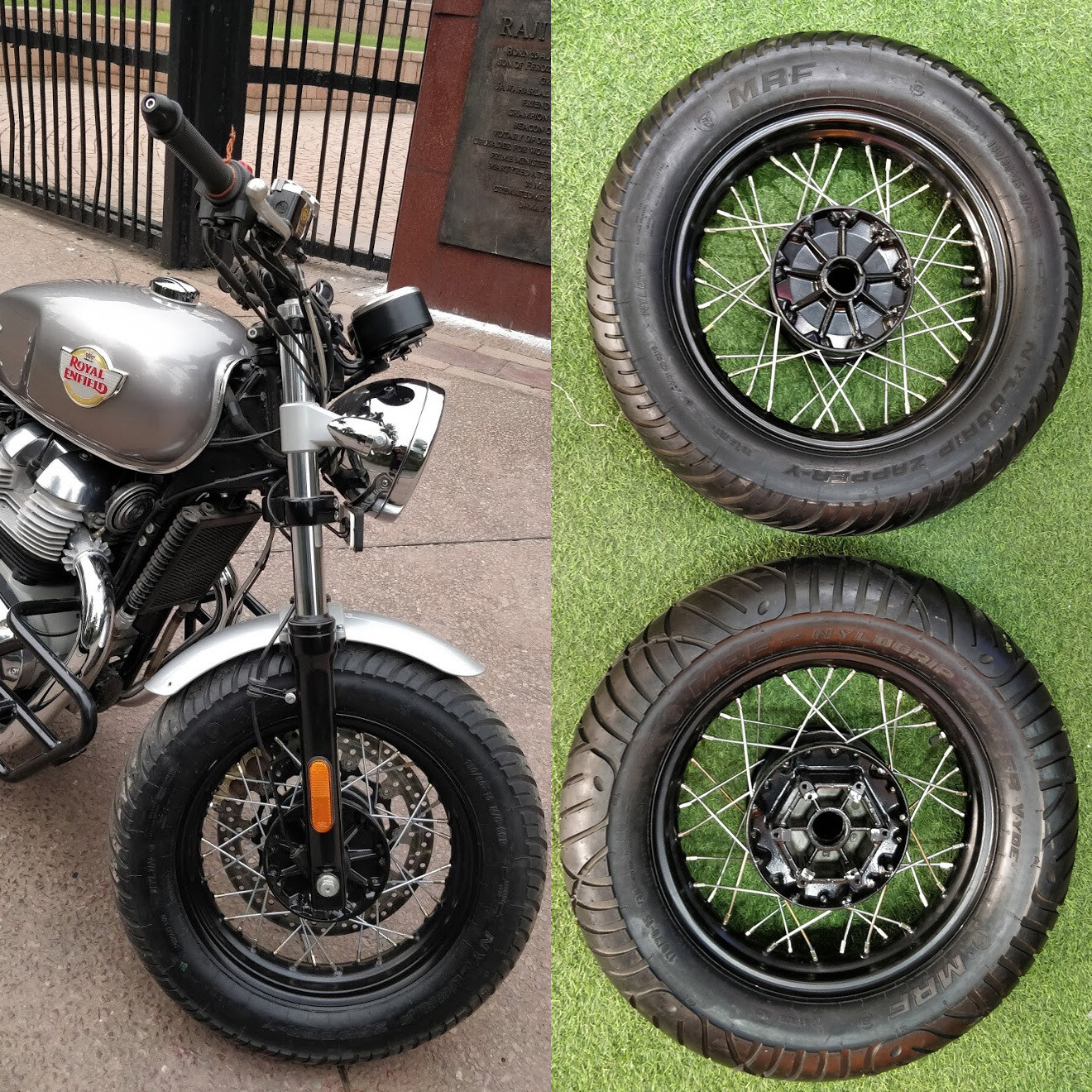 Fat big tyre set for Royal Enfield GT 650 and Interceptor 650
