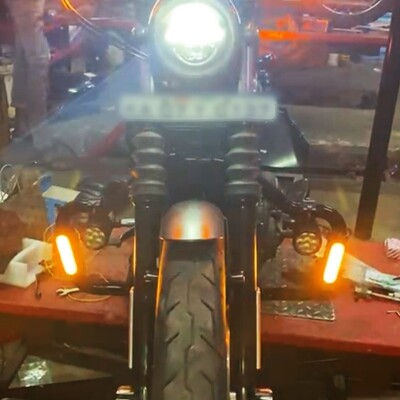 Motorcycle Crash Bar Light Switchback Driving Lights Turn signal with RED Stop light for Crash Bars