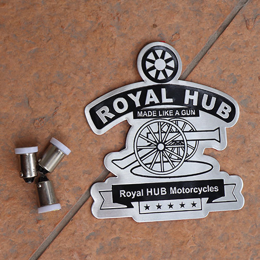2 Stickers & 3 Pilot Light Bulbs for Royal Enfield - Design 2