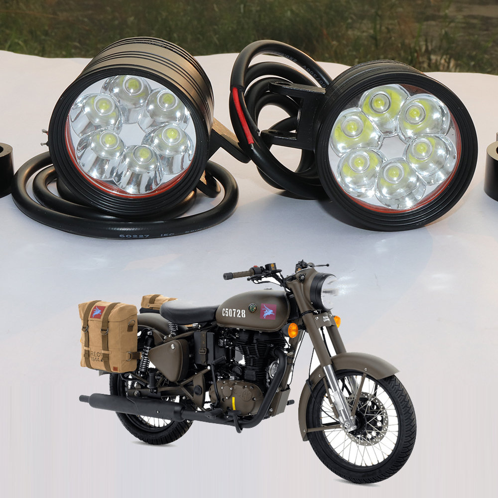 High power led fog lamp with low high and flasher - pair