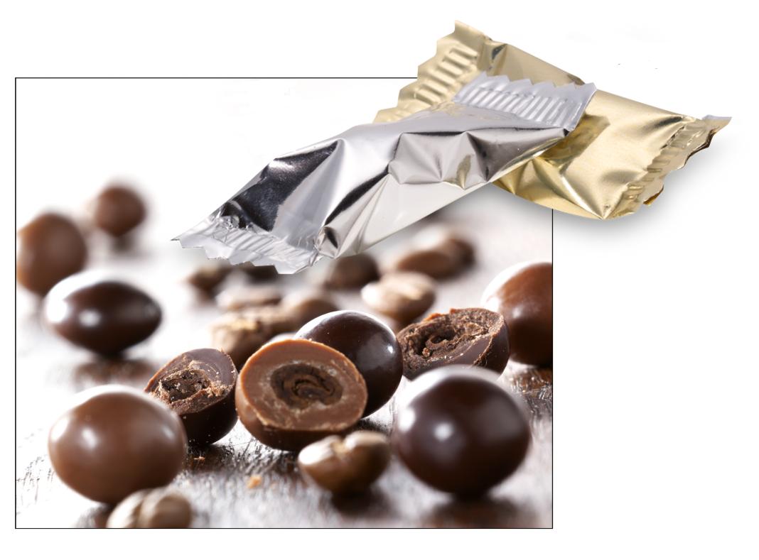 Koffiebonen in chocolade