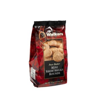 Walkers mini shortbread rounds 125 gr