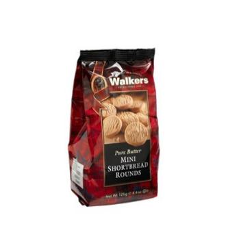 Walkers mini shortbread rounds 125 gr