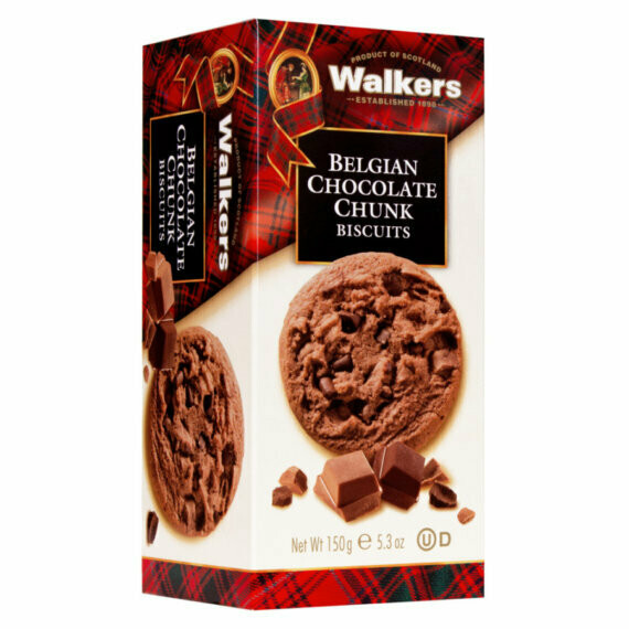 Walkers Belgian chocolate chunk Biscuits 150 gr