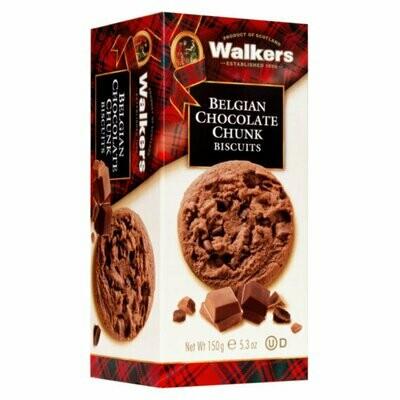 Walkers Belgian chocolate chunk Biscuits 150 gr