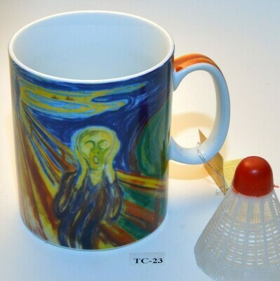 Edvard Munch motief mok (groot model)   TC-23