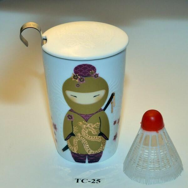 Kruiden- / theemok met zeef en deksel  Samouraï   TC-25