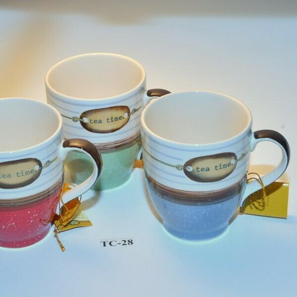 Setje van 3 Tea-Time mokjes in 3 kleuren TC-28