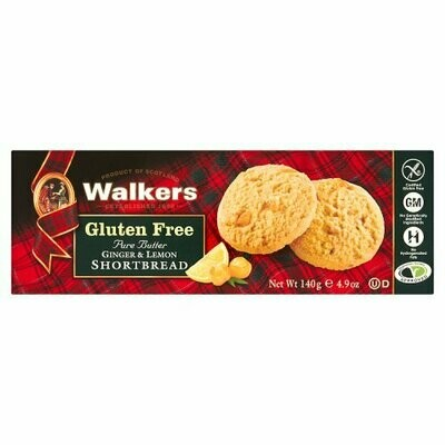 Walkers Ginger and Lemon shortbread Gluten free 140 gr