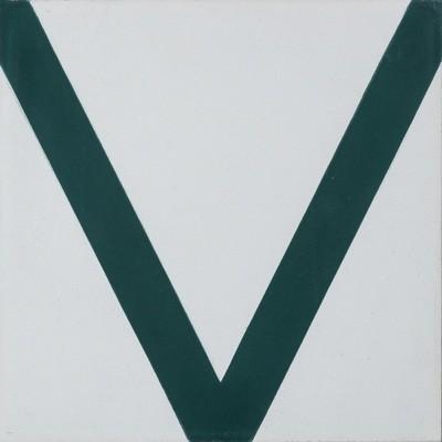 Zementfliese - Hook - Pure White/Bottle Green