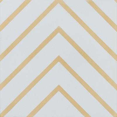 Zementfliese - Goose-Eye - White/Banana